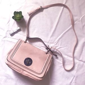 Pink Faux Leather Purse
